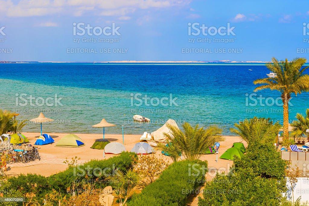 Safaga beach. stock photo