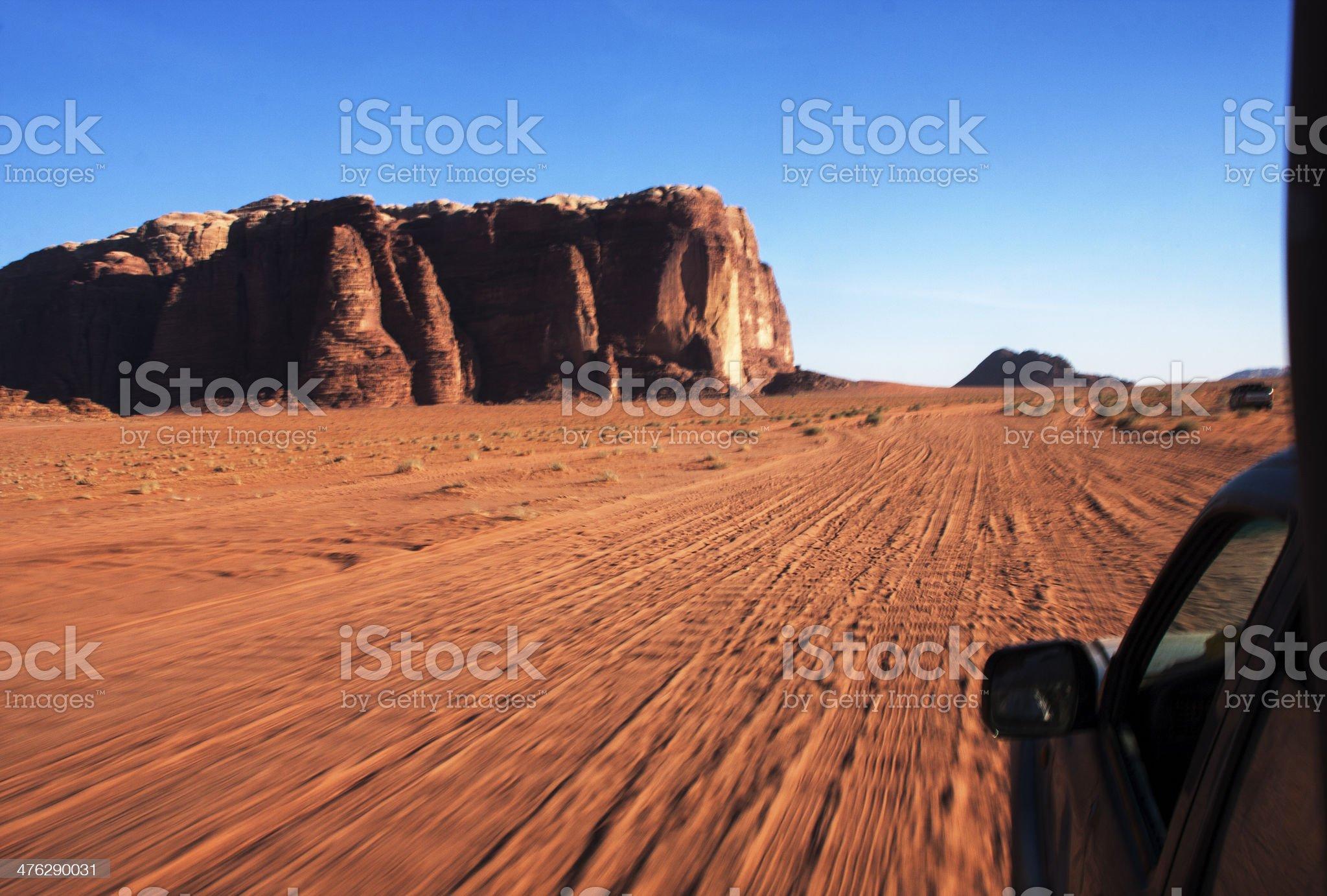 Safari at desert Wadi Rum, Jordan. royalty-free stock photo