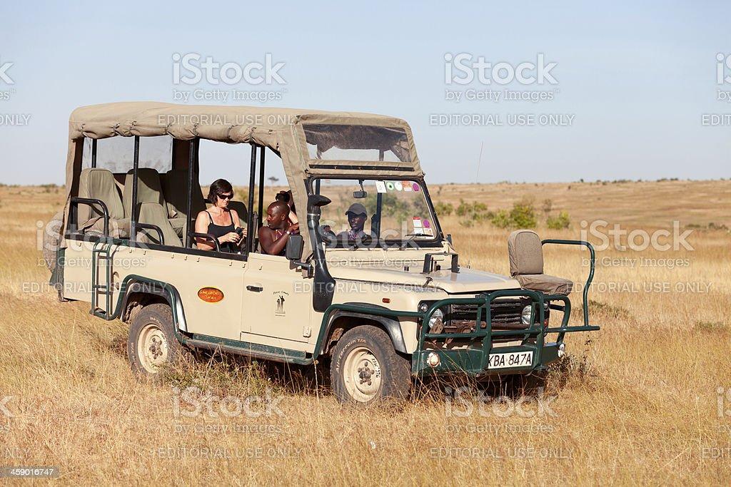 Safari car, Africa royalty-free stock photo