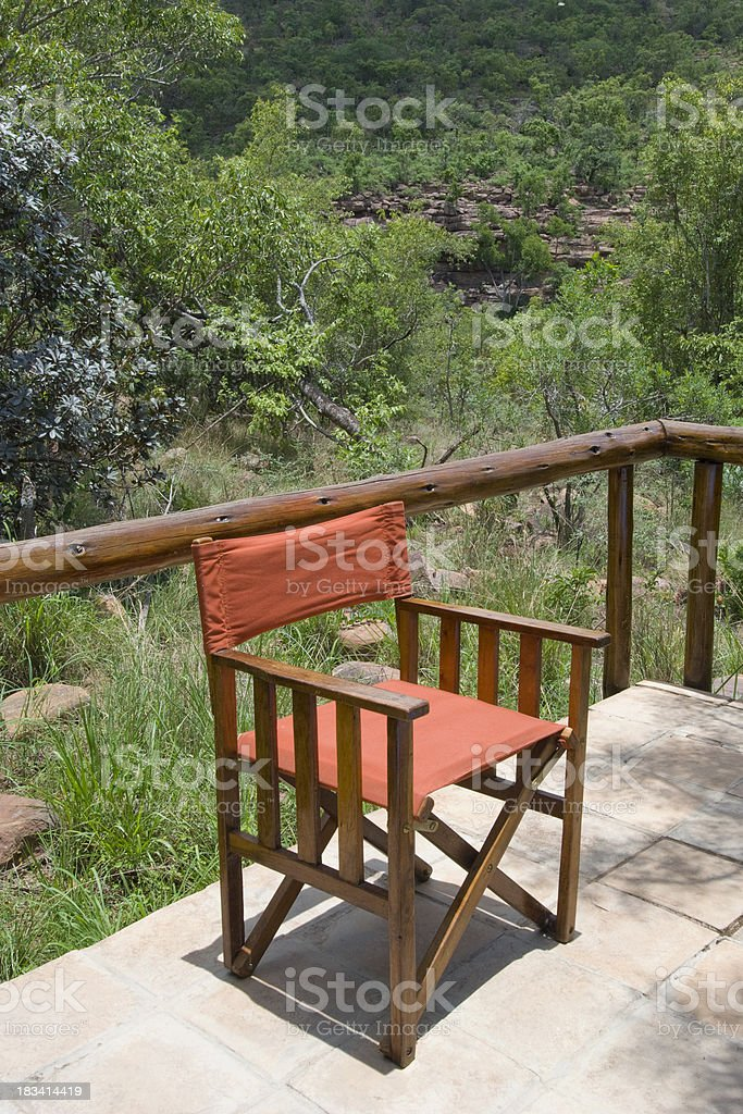 Safari Chair stock photo