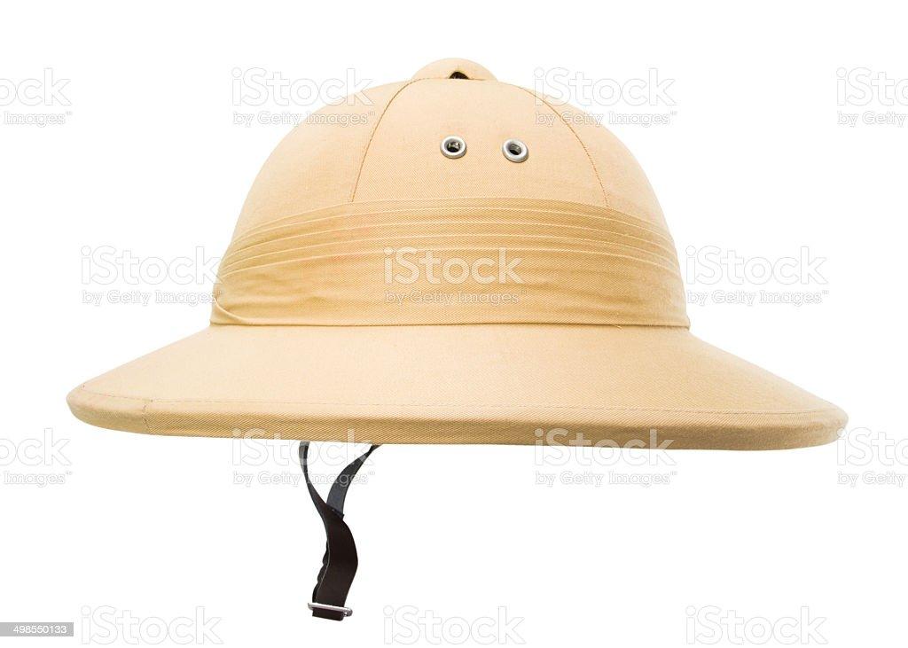 Safari hat isolated on the white stock photo