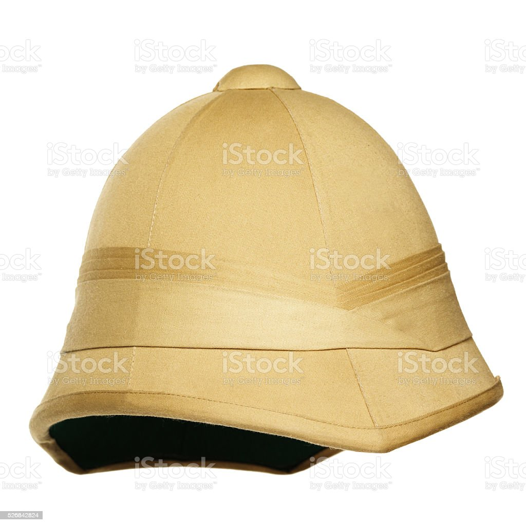 safari hat isolated on white background stock photo