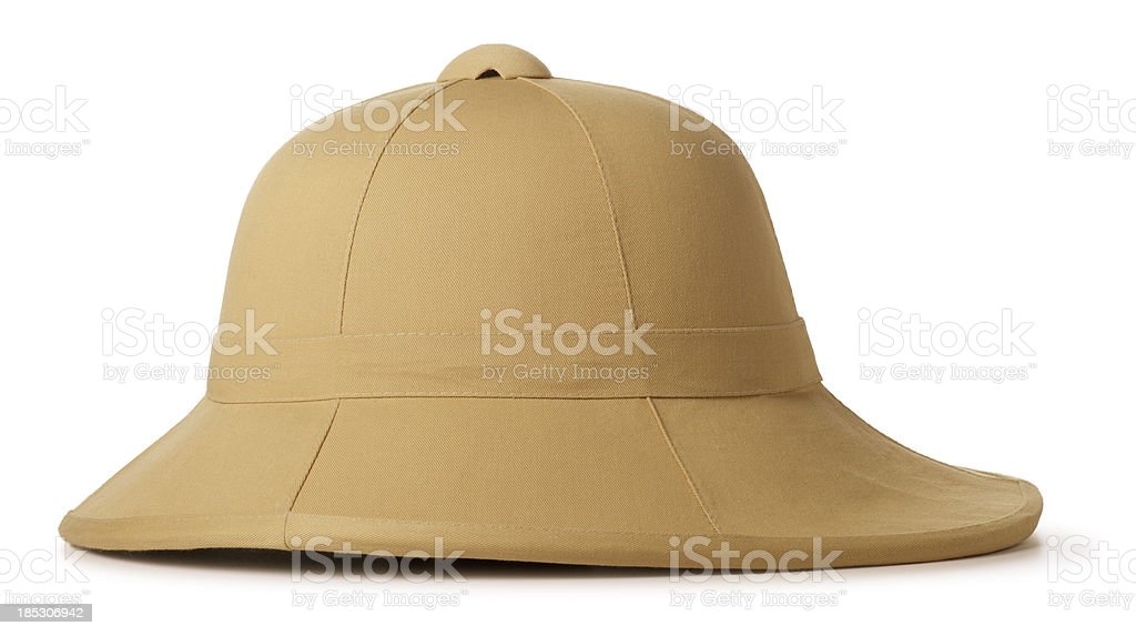 Safari Hat Isolated on White royalty-free stock photo