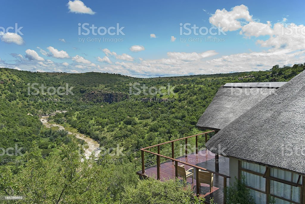 Safari Lodge stock photo