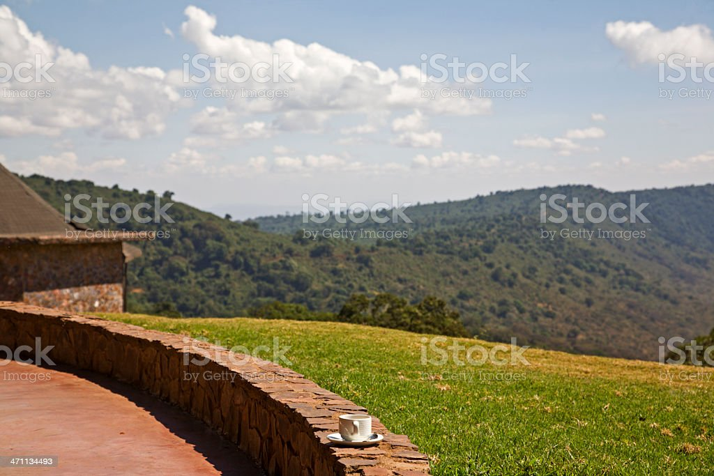 Safarilodge in Ngorongoro. stock photo