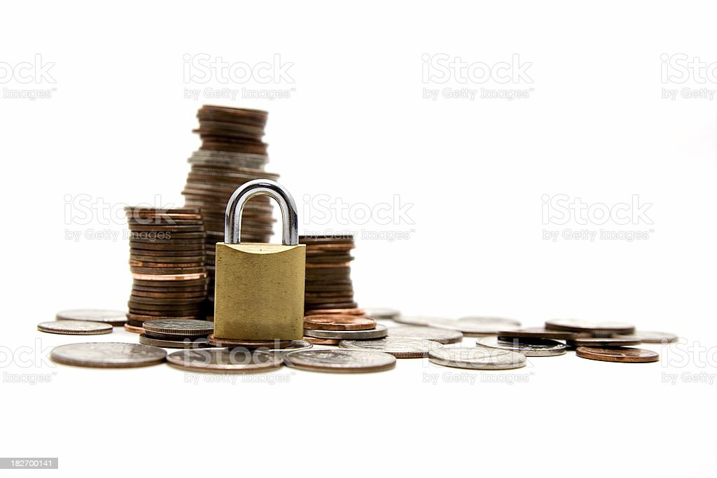 Safe and secure investment royalty-free stock photo