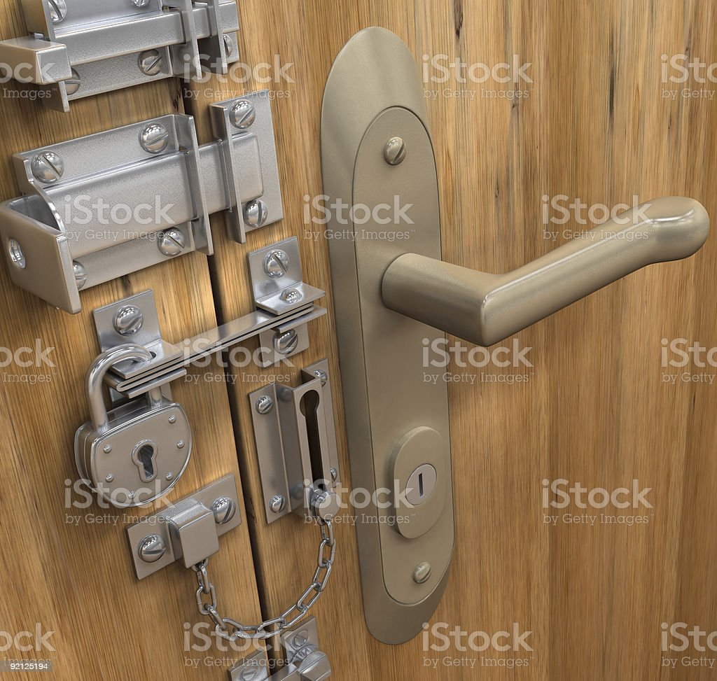 Safe and secure: Lock steady, lock ready  royalty-free stock photo