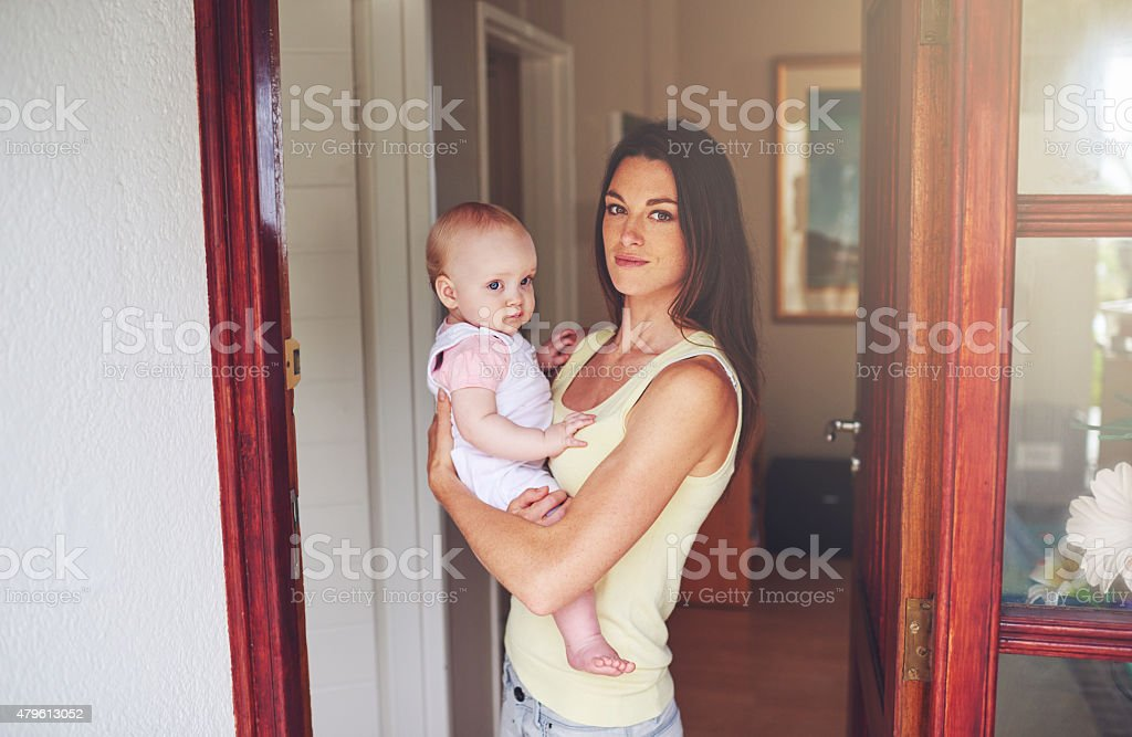 Safe at home stock photo
