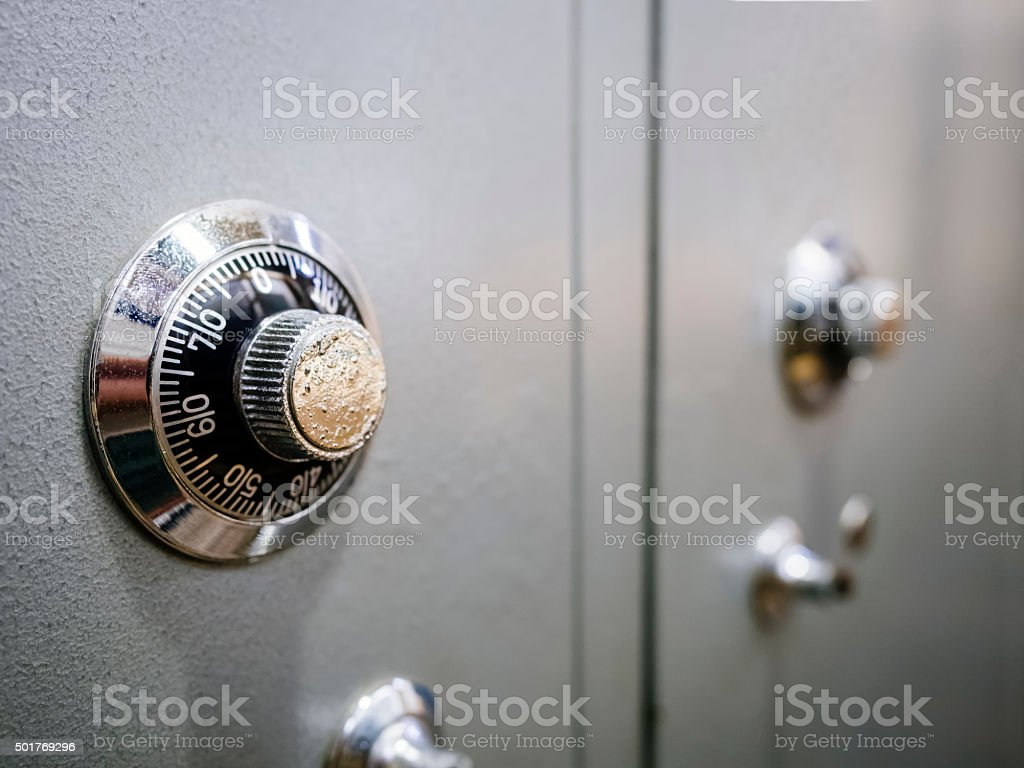 Safe Box Banking Password protected system stock photo