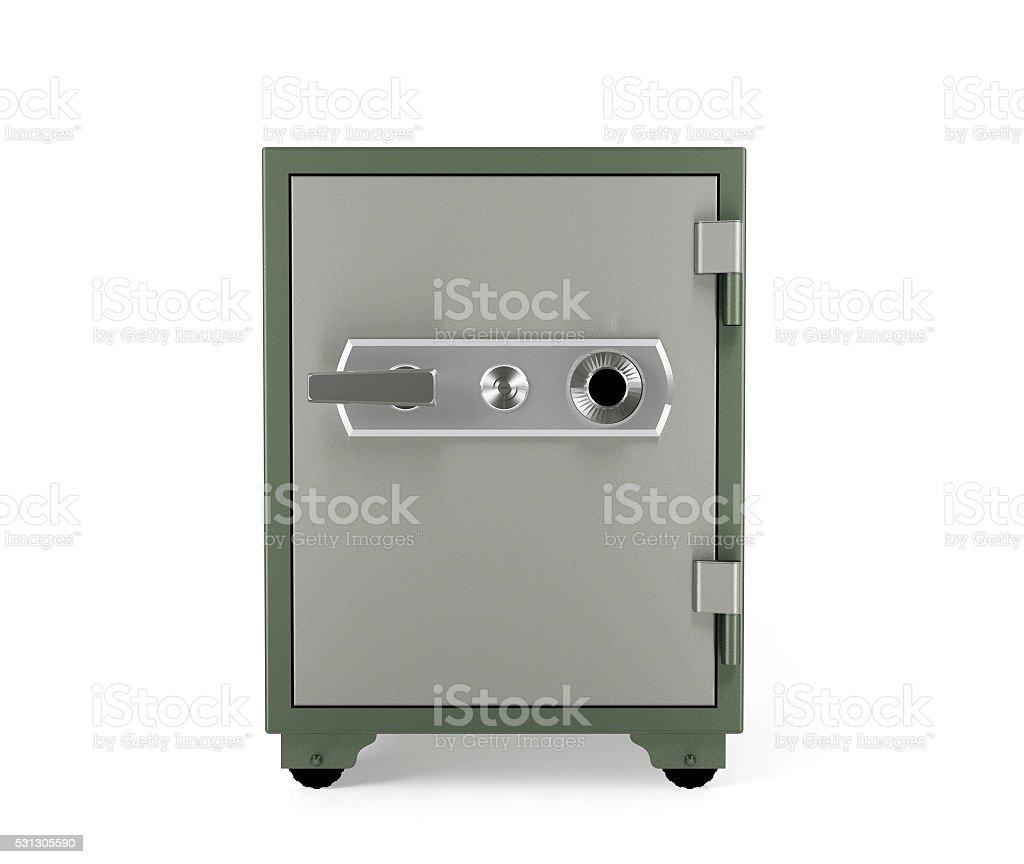 Safe box isolated stock photo