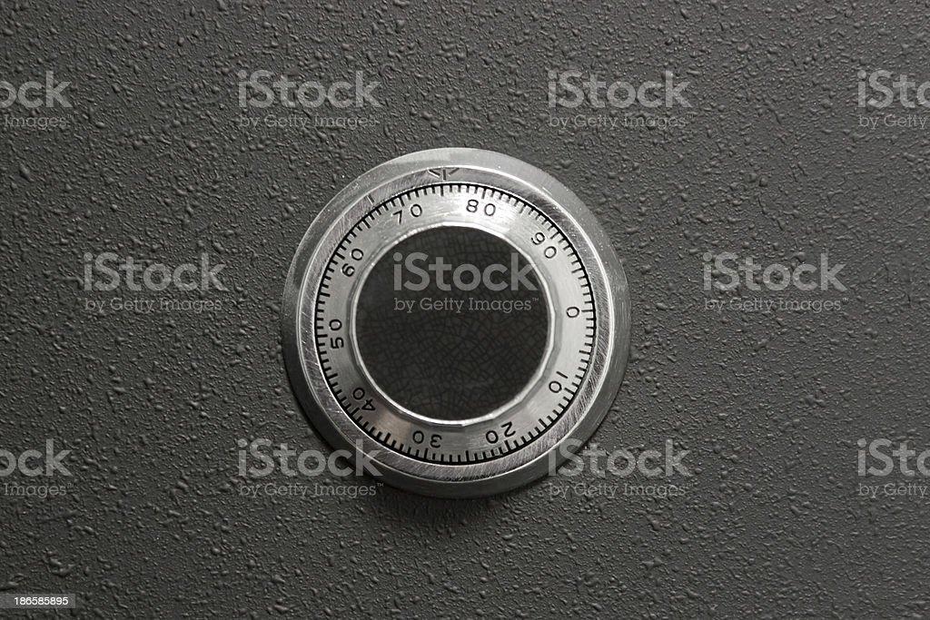 Safe Button stock photo