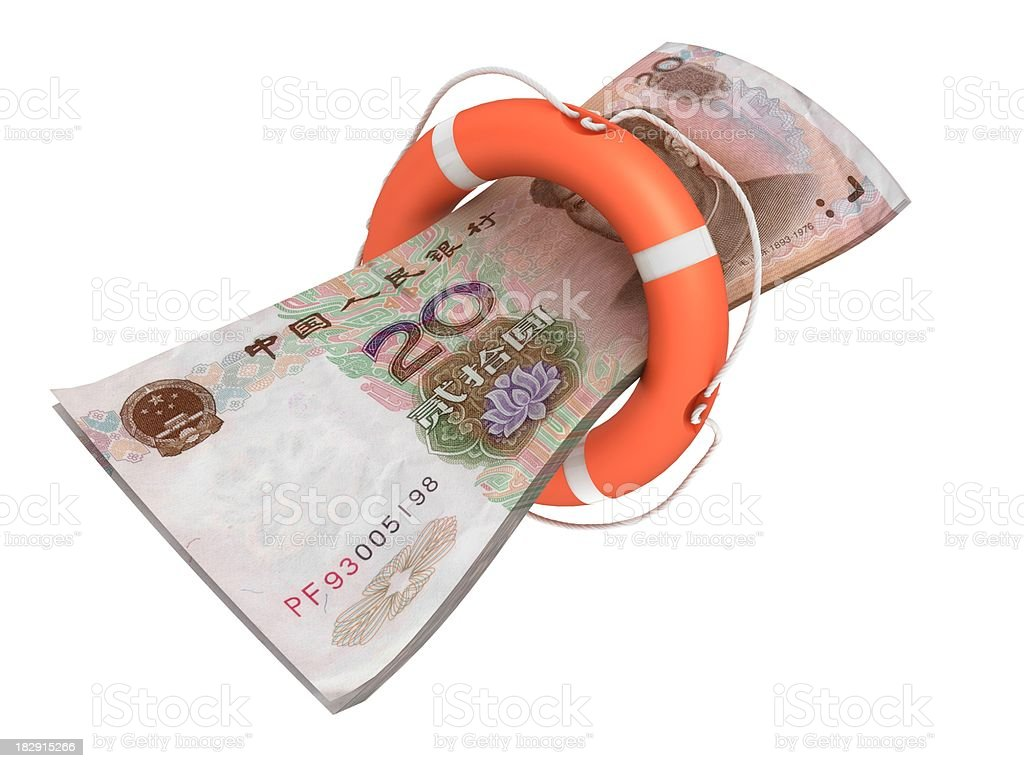 Safe Chinese Yuan royalty-free stock photo