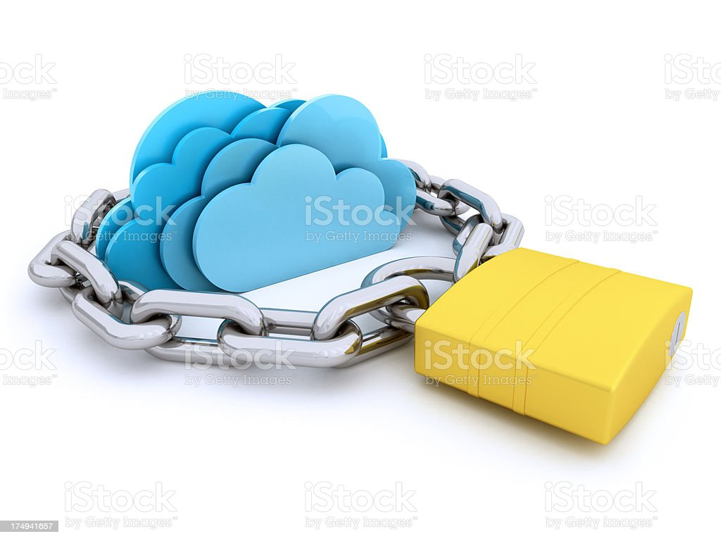 Safe cloud computing royalty-free stock photo