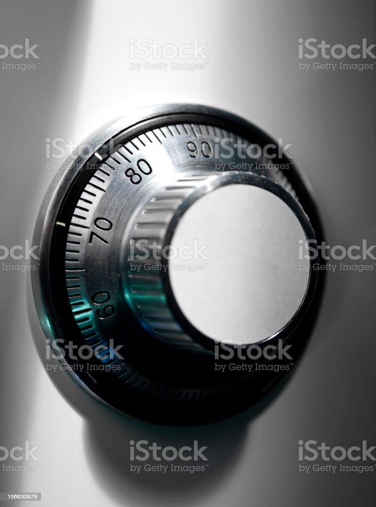Safe combination lock royalty-free stock photo