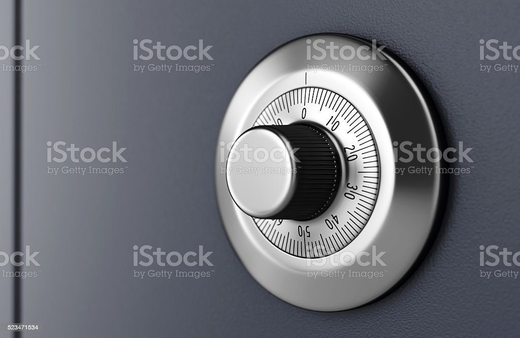 Safe combination lock stock photo