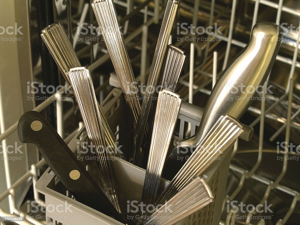 Safe Cutlery - Tips Down royalty-free stock photo
