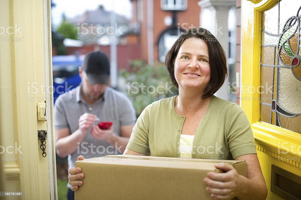 safe delivery royalty-free stock photo