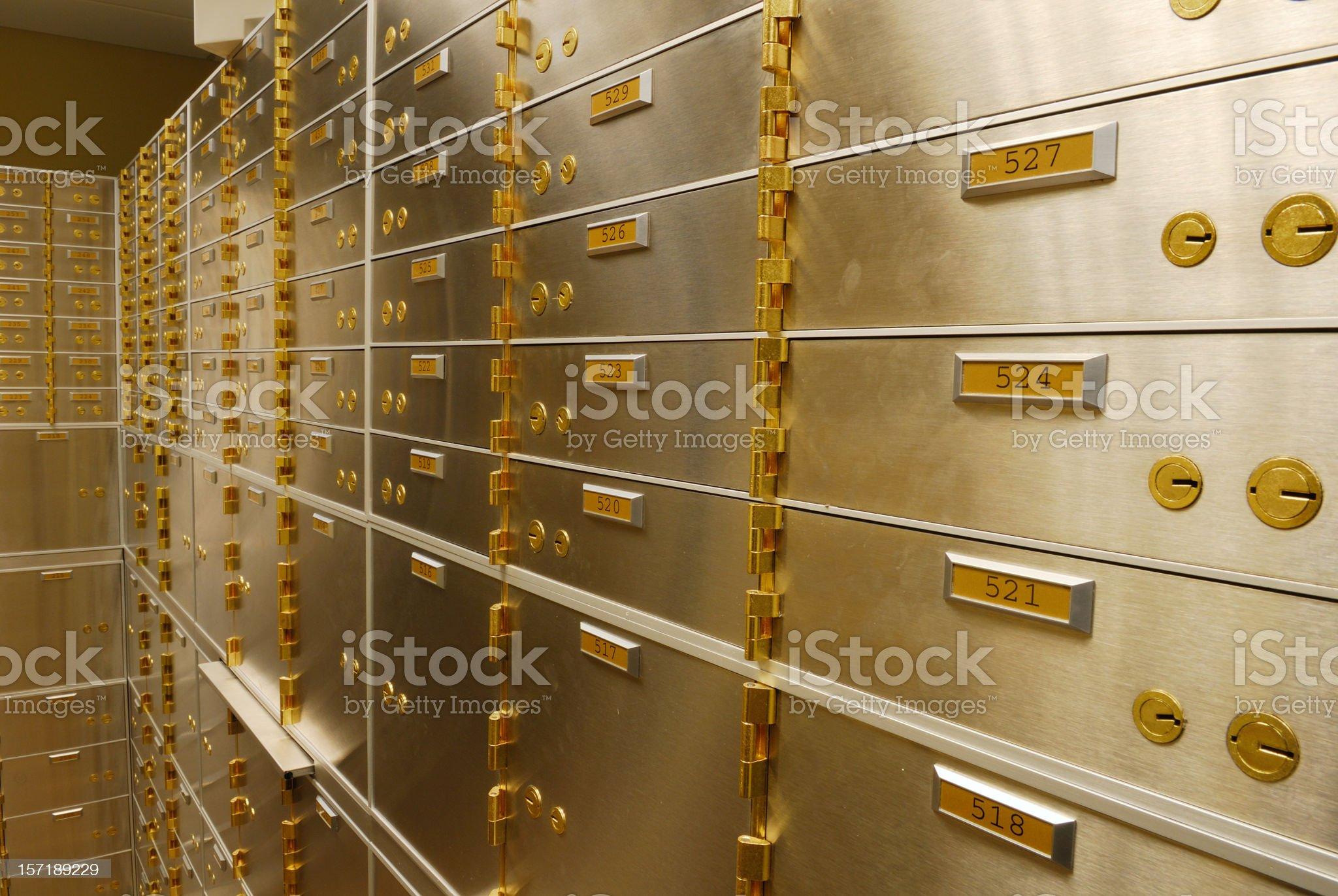 Safe Deposit Boxes royalty-free stock photo
