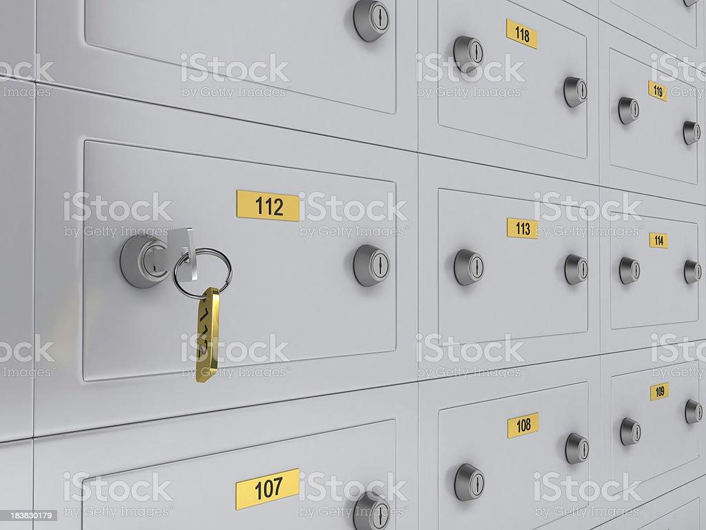 Safe Deposit Boxes stock photo