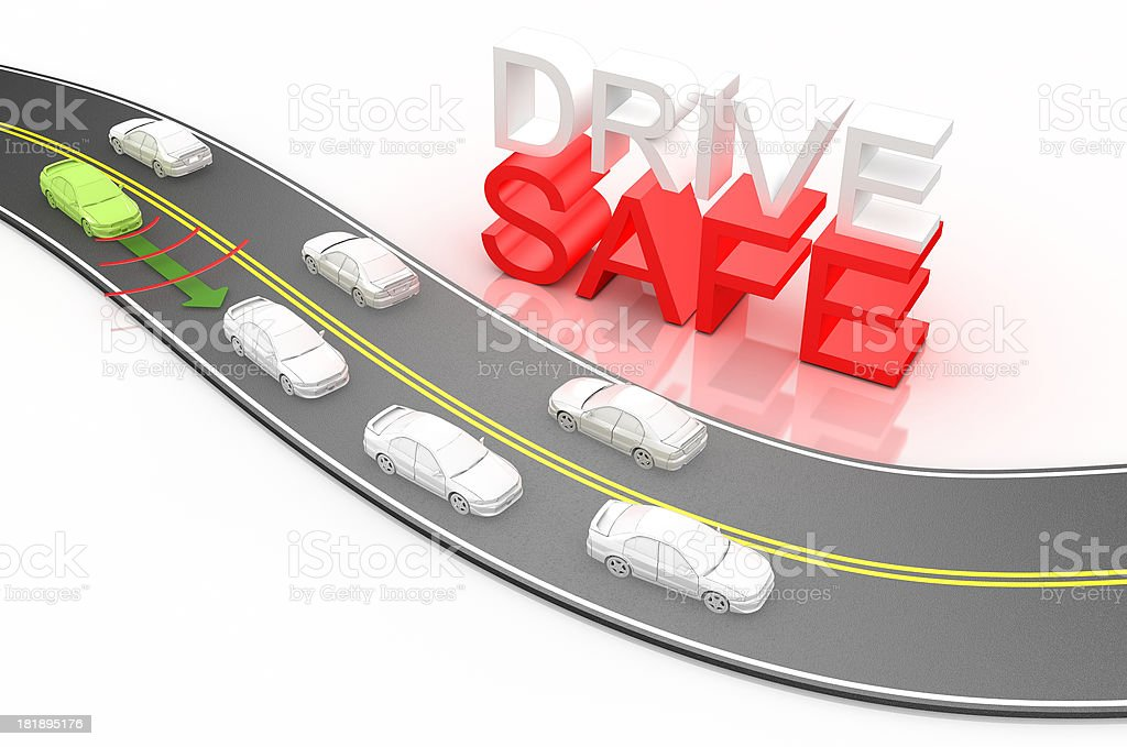 Safe Distance between cars royalty-free stock photo