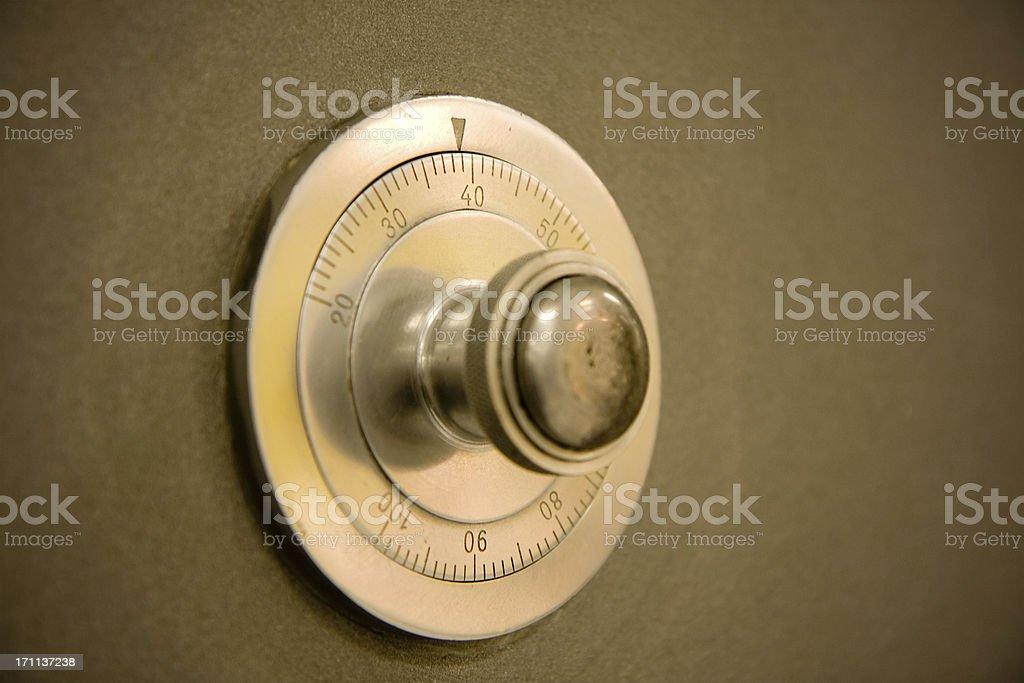safe door dial royalty-free stock photo