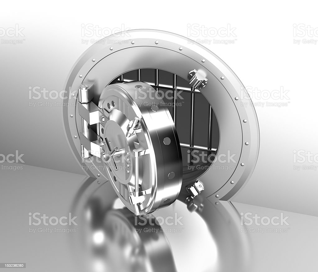 Safe door of the bank royalty-free stock photo