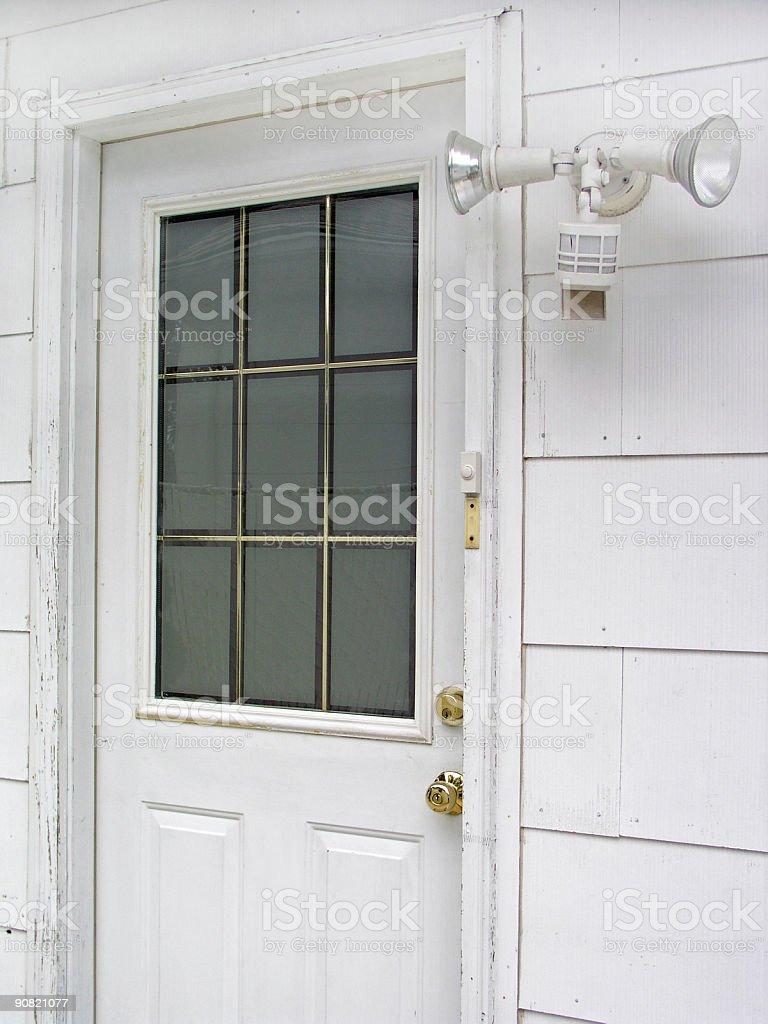 Safe door stock photo