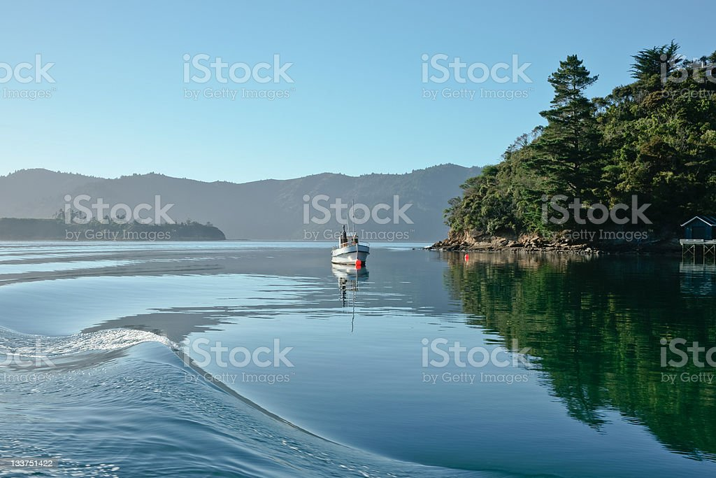 Safe harbour, Marlborough, New Zealand. royalty-free stock photo