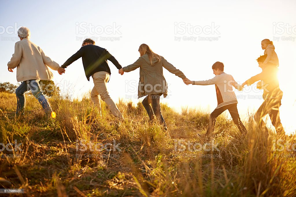 Safe in each others' hands stock photo