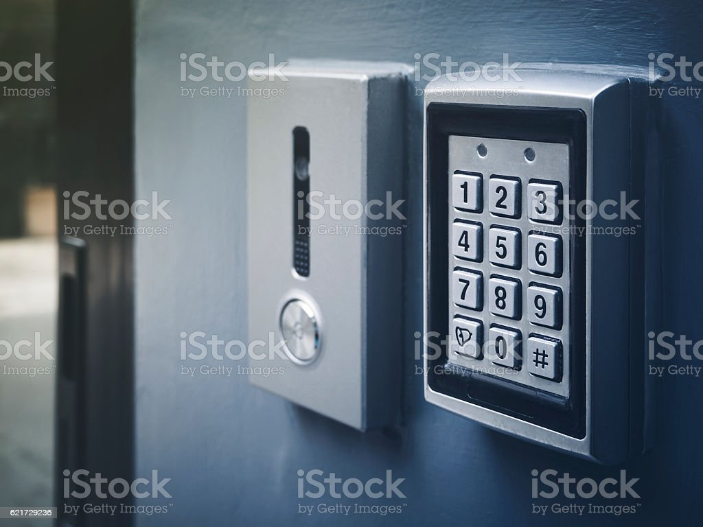 Safe lock code Password Pad number Protection Business finance stock photo