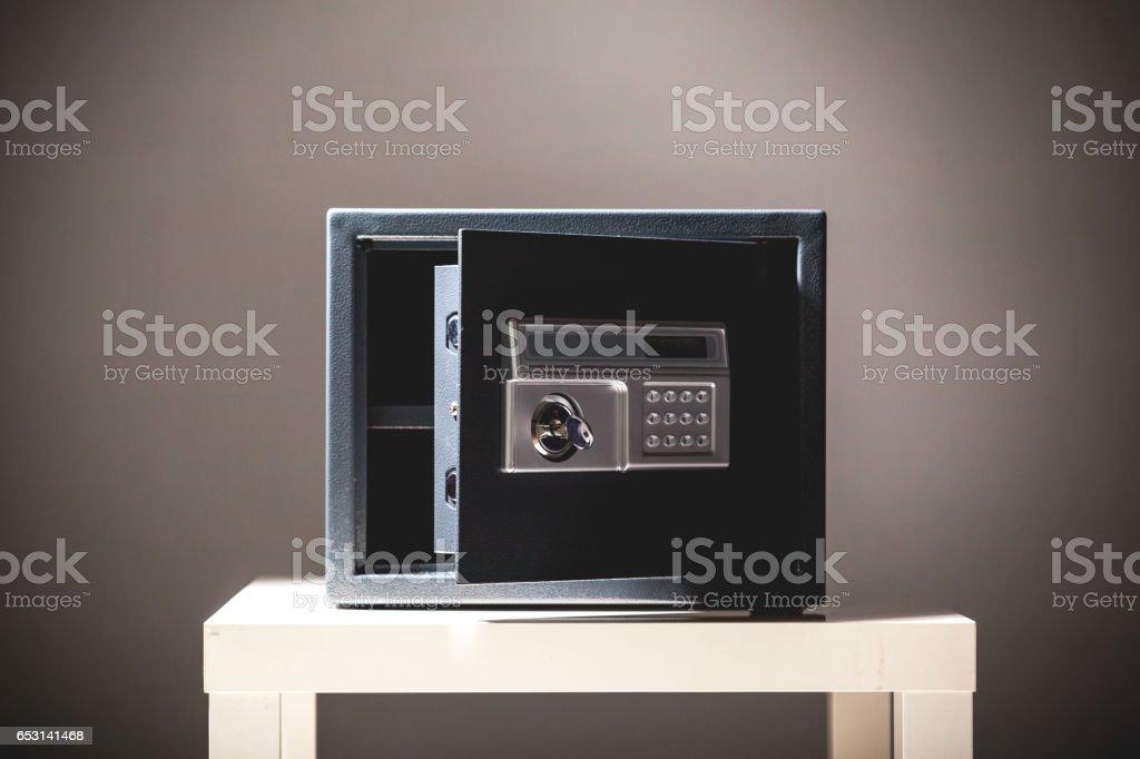 safe on black background stock photo