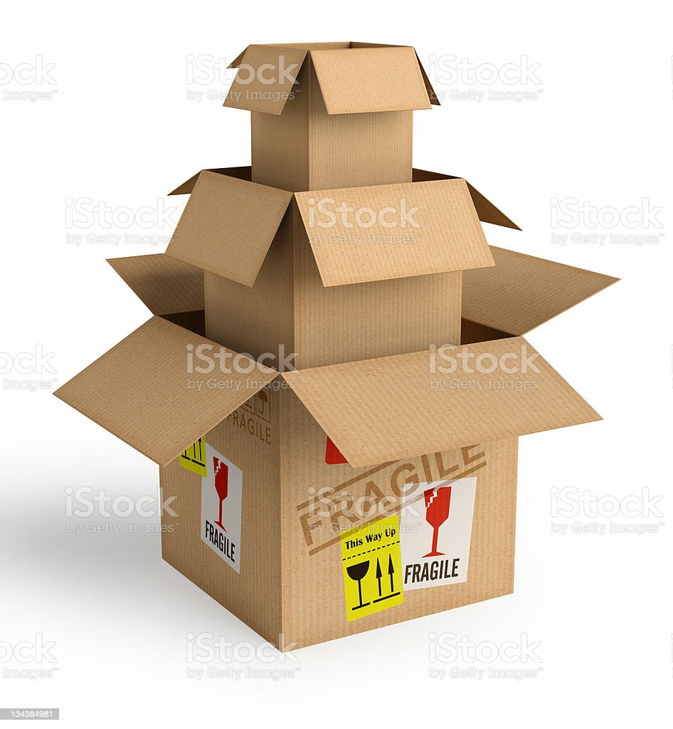 Safe Packaging royalty-free stock photo