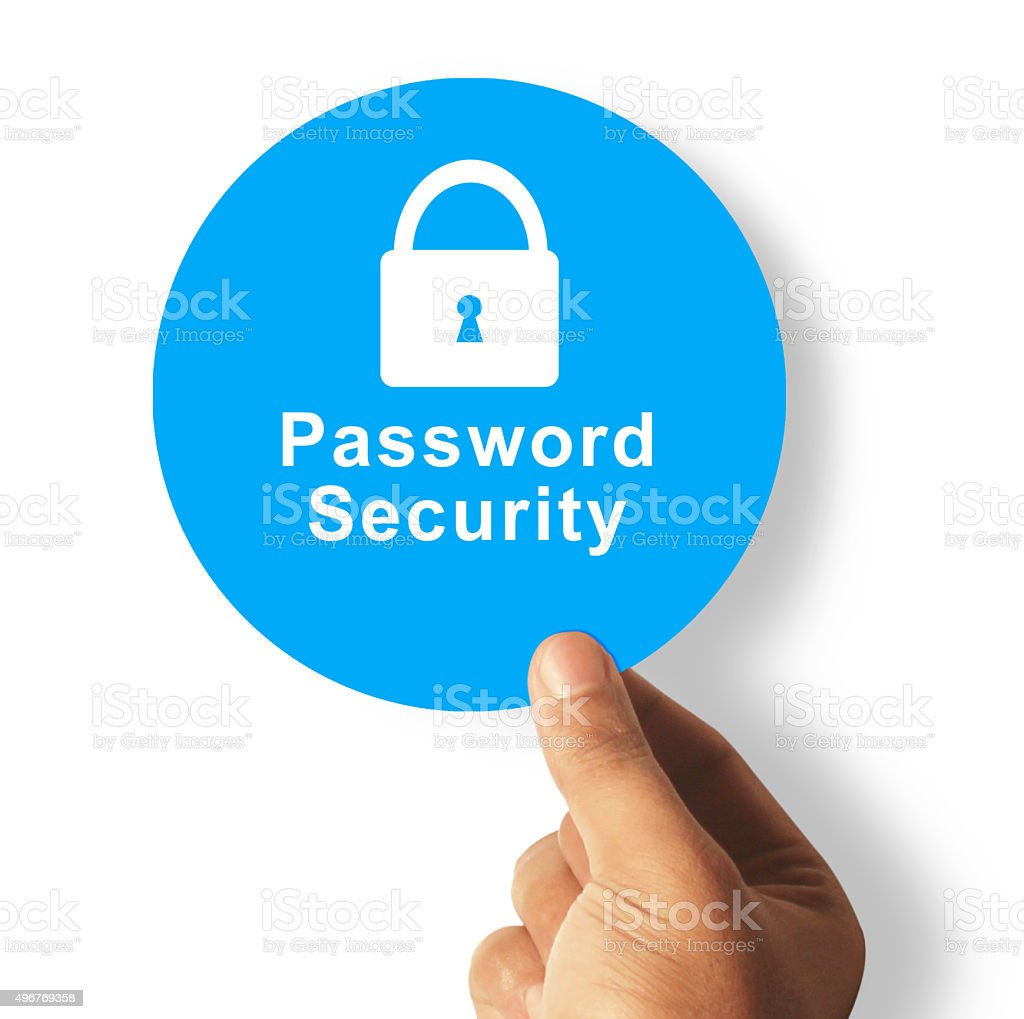 Safe password security stock photo