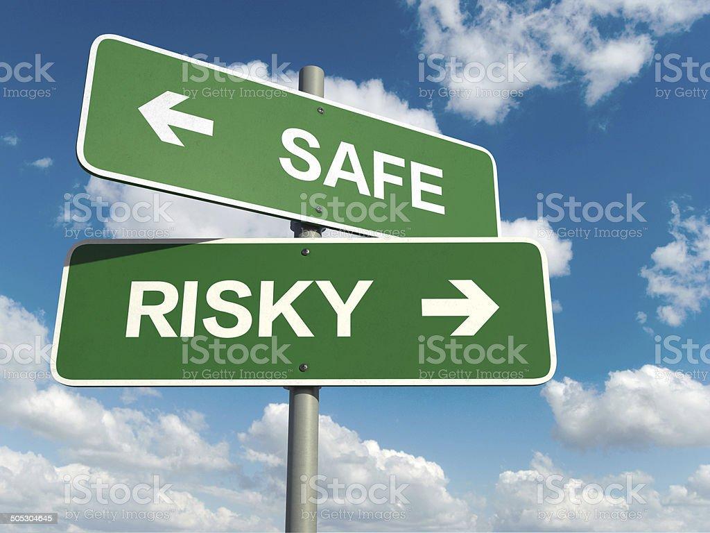 safe risky stock photo