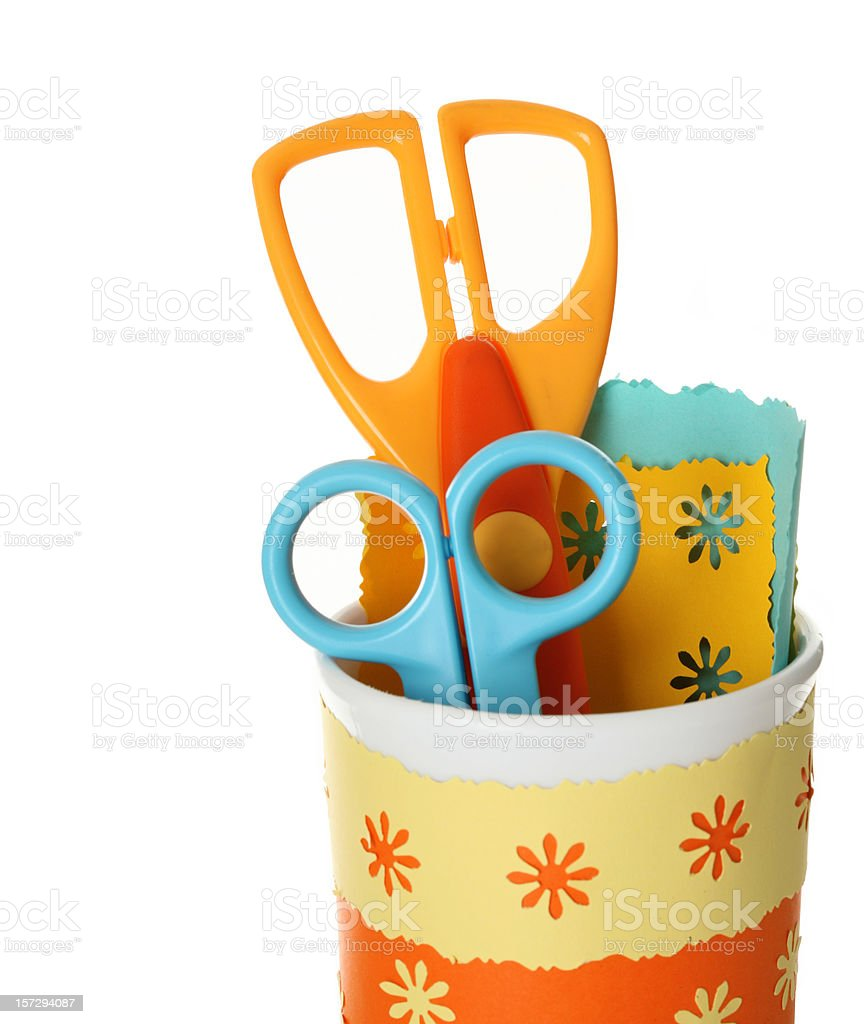 safe scissors for children stock photo