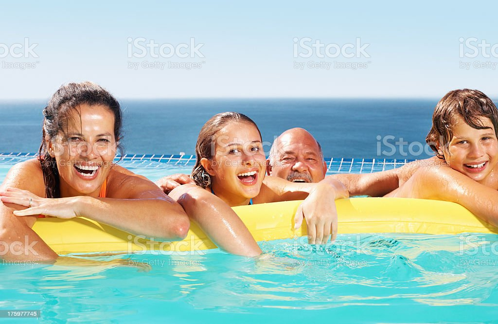 Safe summer fun for the whole family royalty-free stock photo