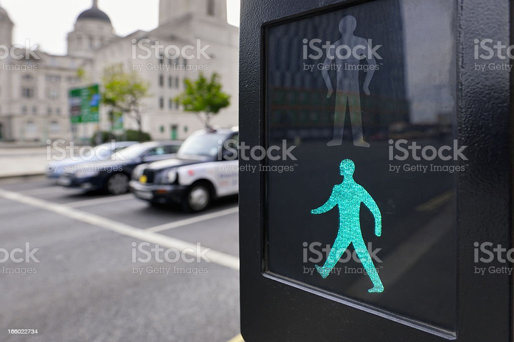 Safe to Cross the Road - Pedestrian Crossing stock photo