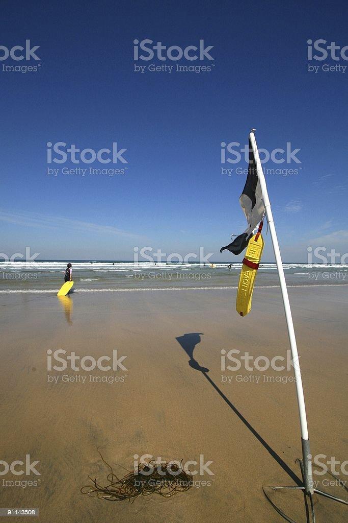 Safe to swim flag royalty-free stock photo