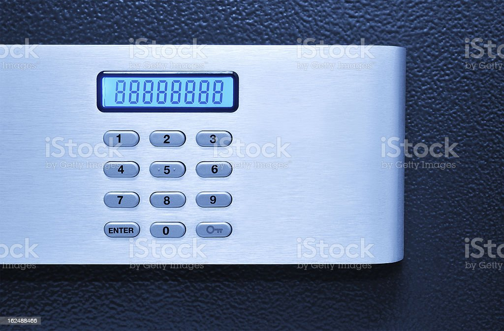 Safe with code lock stock photo