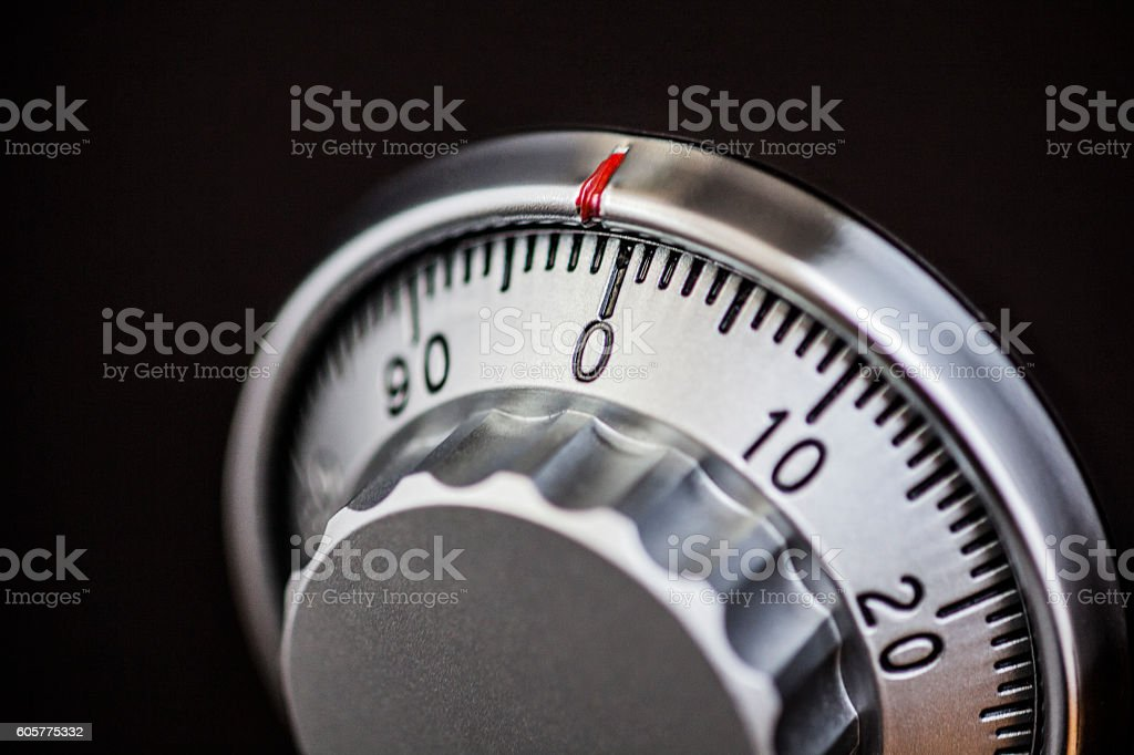 Safe with dial stock photo