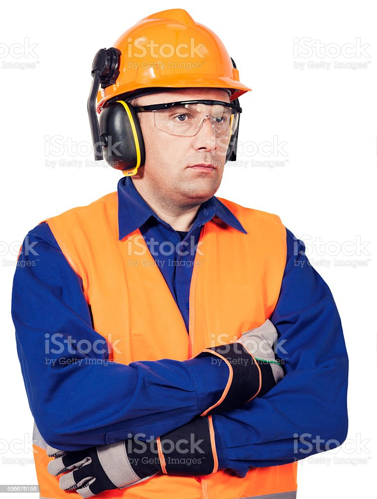 Safe work stock photo