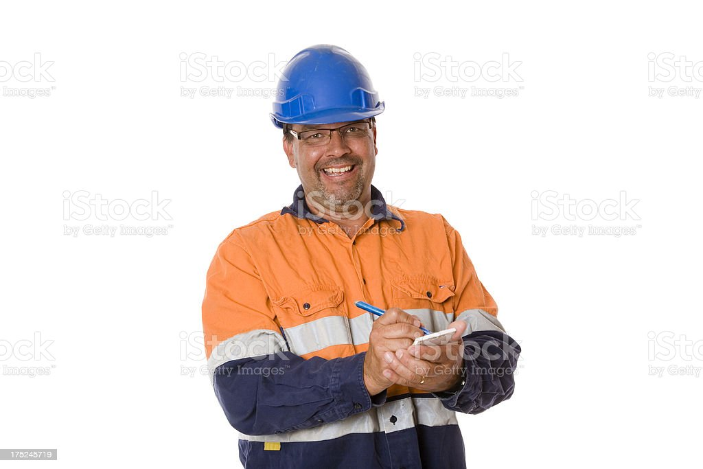 Safe Worker royalty-free stock photo