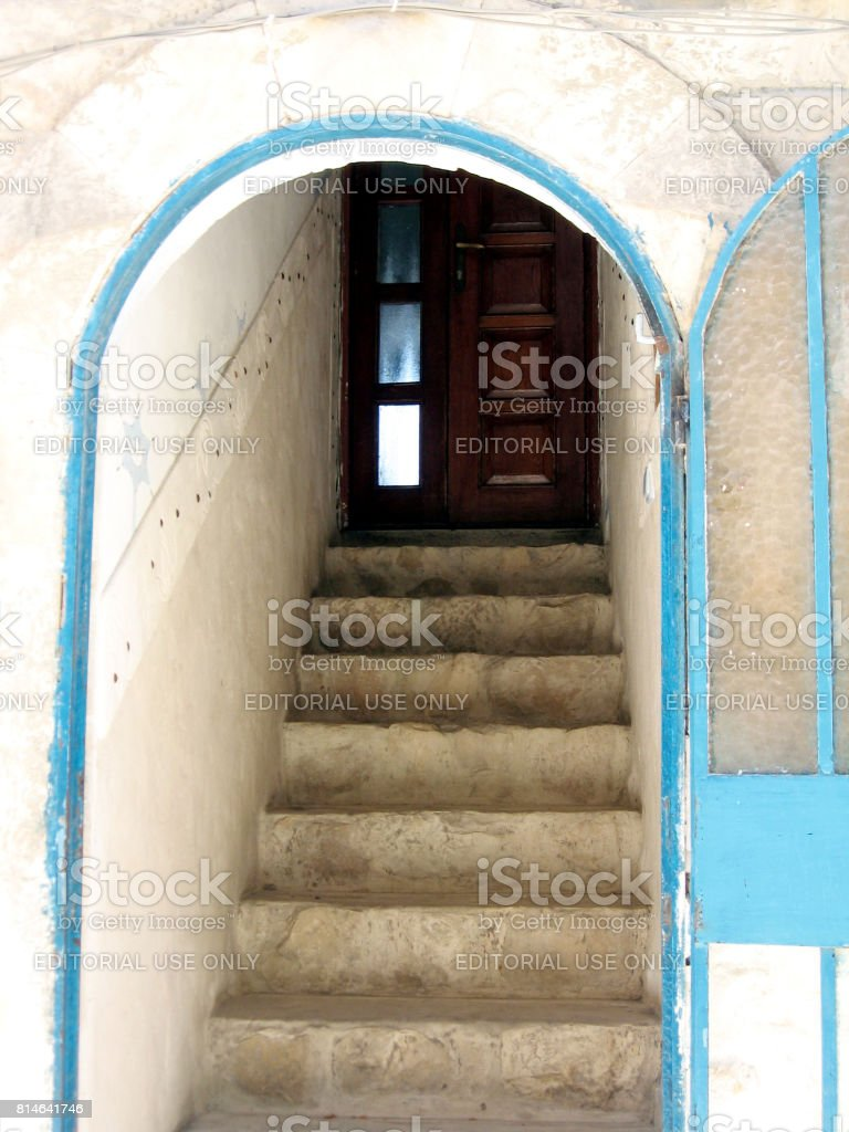 Safed Old City entrance to the house 2008 stock photo