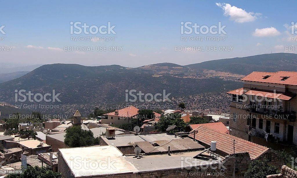 Safed Old City Roofs 2008 stock photo