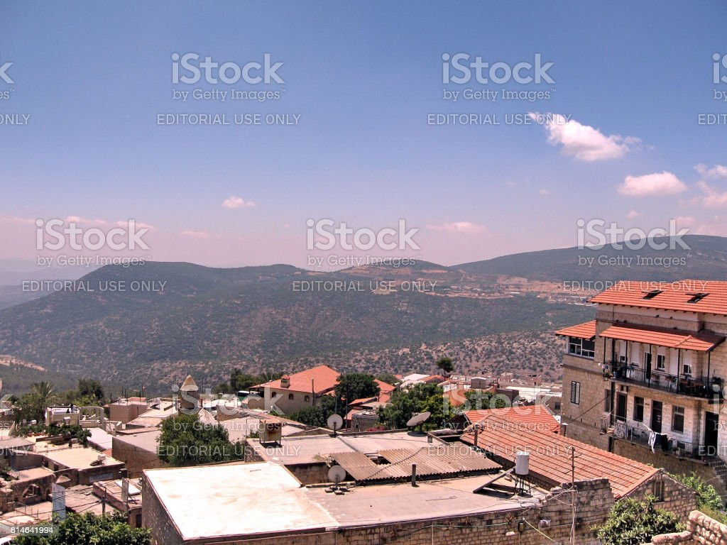 Safed Old City roofs June 2008 stock photo