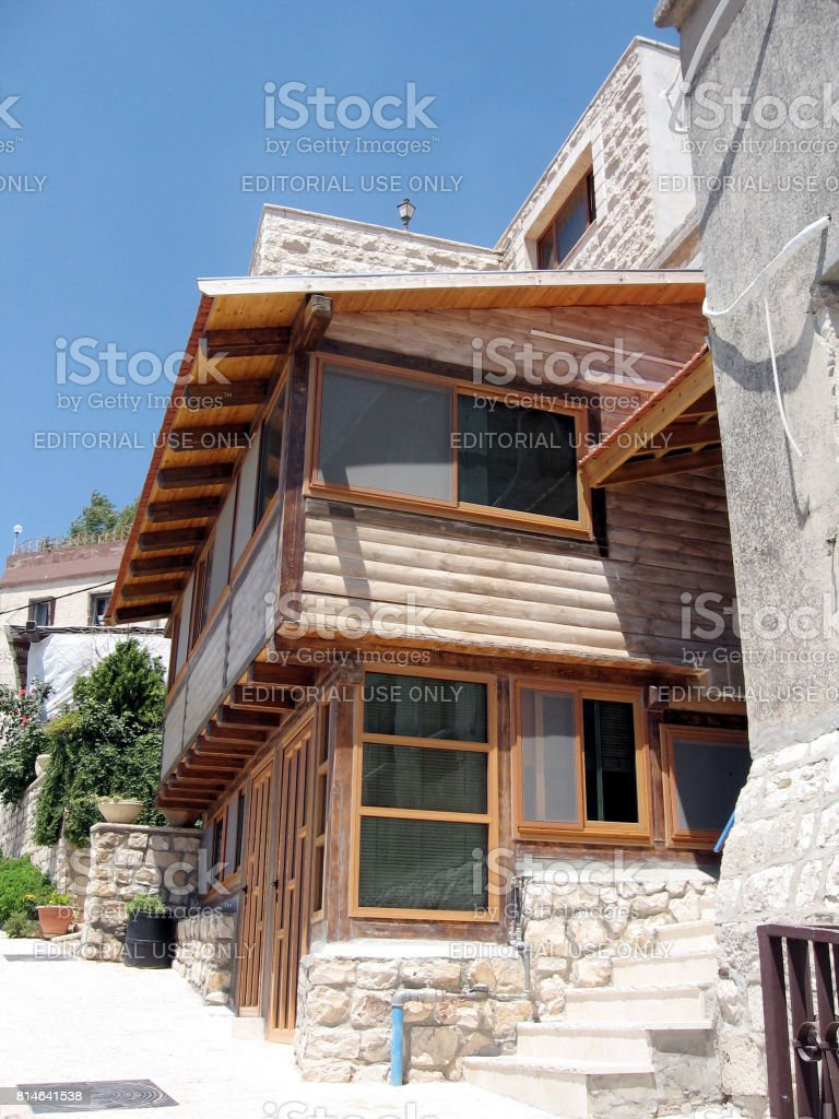 Safed wooden house 2008 stock photo