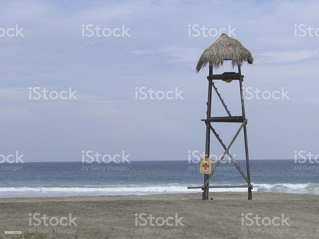 Safeguard tower royalty-free stock photo