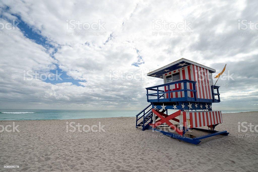 Safeguards on the beach stock photo