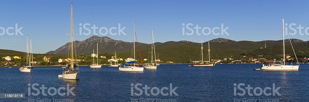 safely anchored stock photo