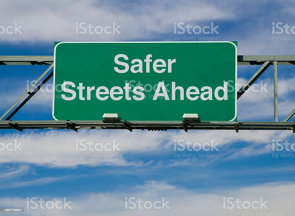 Safer Streets Ahead stock photo